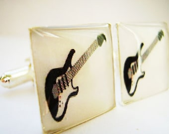 Guitar Cufflinks, Electric Guitar Cufflinks, cuff links, Fender cufflinks, Rock Cufflinks, Stratocaster cufflinks,Fender cufflinks,cufflinks