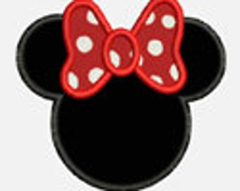 Ms Mouse ...Embroidery Applique Design...Three sizes for multiple hoops...Item1579...INSTANT DOWNLOAD