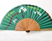 Hand fan. Spanish Fan - OOAK. Limited Edition Spanish Fan - Gifts for her and for him - Hand painted. Colors - Take away the art for a walk