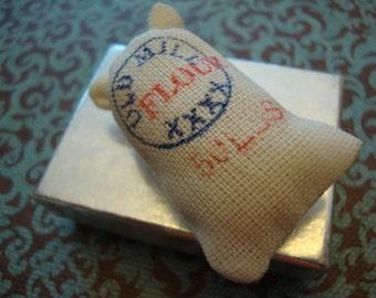 Miniature Flour Sack Doll Play Vintage Miniatures Canvas Doullhouse Kitchen 101