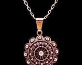 Pendant with chain - Charro button from Salamanca by Luis Mendez.  925 sterling silver