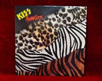 KISS - Animalized - 1984 Vintage Vinyl Record Album