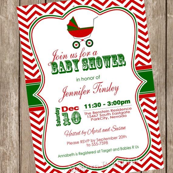 christmas baby shower invitation shower invitation holiday, Baby shower