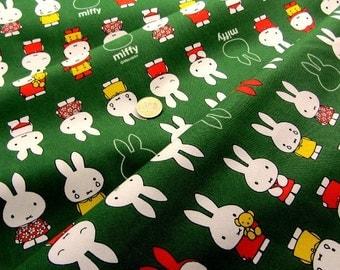 Miffy fabric  Green colour half yard