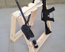 Wooden Paintball, Pellet, Gun Rack