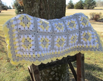 Crocheted Baby Blanket, Baby Girl, Baby Boy, Baby Afghan, Baby Blanket, Crib Size, Toddler