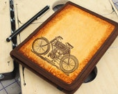 Kindle Leather Cover - Motorbike - Customizable - Free Personalization