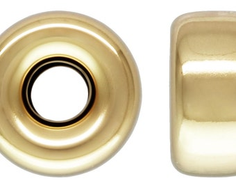 14Kt Gold Filled 5mm Roundel 1.4mm Hole - 10pcs (4450) 10% discounted Made in USA