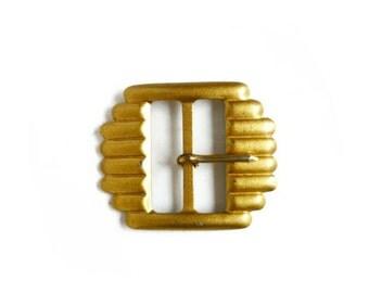 Belt Buckle, Vintage Gold Metal Belt Buckle