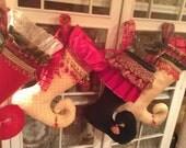 Custom Order of Four Fabulous Holiday Stockings