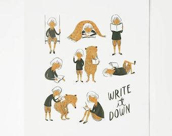 Write it Down Print
