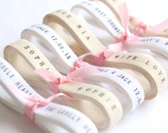 Bespoke Ribbon - Twill Ribbon / 6 Yards Personalized Wedding Favors twill ribbon . Custom Personalized Ribbon . personalised ribbon