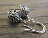 From Bali with Love, Genuine Bali Sterling Silver Wirework Beads Earrings