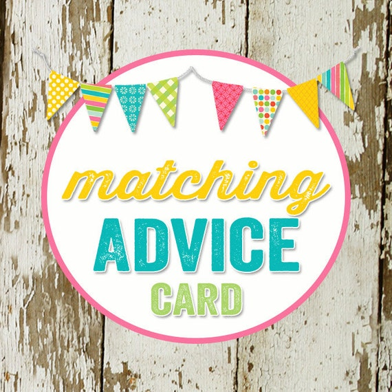 ADVICE CARD to match any invitation for baby shower or bridal shower, digital, DIY printable file