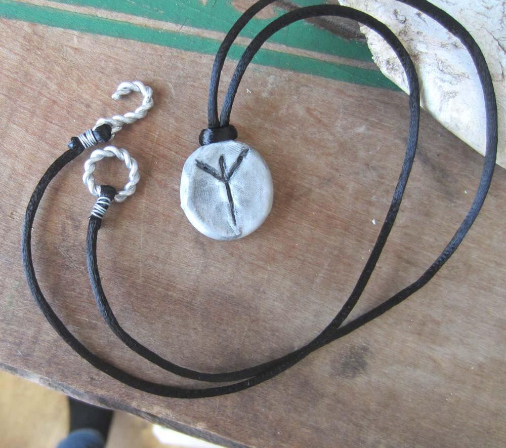 algiz rune necklace viking runes pendant elder futhark wicca