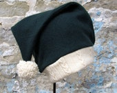 Up-cycled Cashmere Santa's Helper Elf Hat for Adults