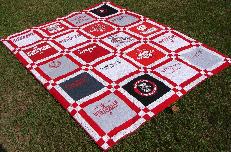 T-shirt Quilt Made to Order-Double Sashing 20 Blocks