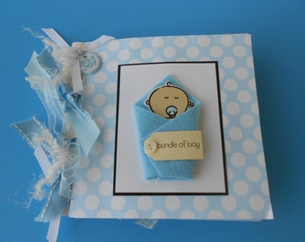 Baby boy scrapbook album pre made moms brag book grandmas brag book pre made