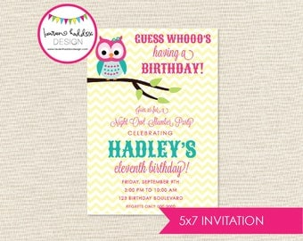 DIY, Night Owl Slumber Party INVITATION ONLY