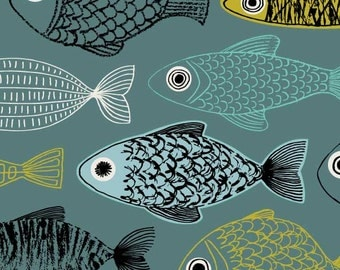 Blue Fish, limited edition giclee print