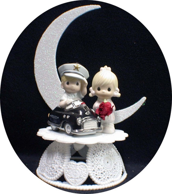 precious moments police wedding cake topper unavailable listing on etsy 18712