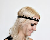 Tiara Crown Black Rhinestone headband with beads