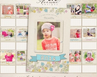 Updated To Year 2015 Calendars Templates 11x17 Inch Vol 4
