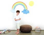 Rainbow Promise Eco-Friendly Reusable Fabric Wall Decals by Pop & Lolli