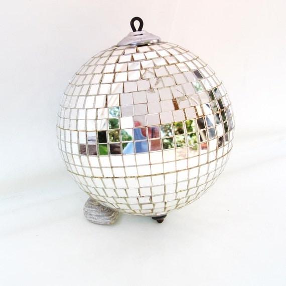 Disco Ball Decoration: Vintage Disco Ball Mirrored 70s Disco Decor Party Decoration
