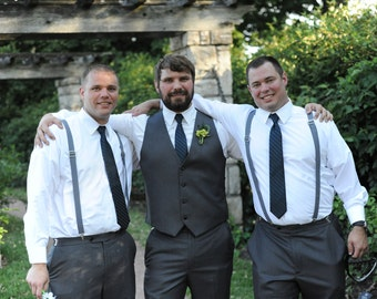Mens Suspenders, Suspenders, Wedding party Suspenders.