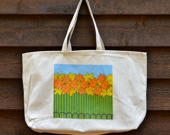 Cotton Canvas Tote Bag with Original Artwork by Jeff Schilling Damn the Dullness