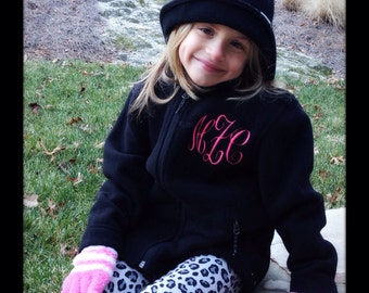 Personalized Youth Fleece Jacket  Embroidered Monogram Included