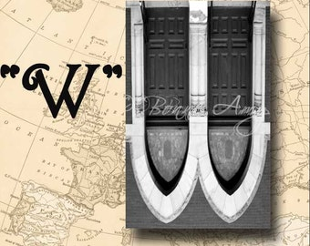 Letter W Alphabet Photography Black and White or Sepia 4 x 6 Photo Letter Unframed