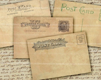 United States Antique Postcards USA Blank America Old US Post Cards for Decoupage Props US Postal Letters Mail 466