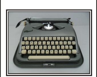 Green Cole Steel Typewriter - Not Working