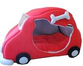 VW Beetle Bug Car Fleece Pet Bed