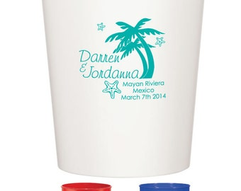 100 Custom Wedding Favor Stadium Cups Personalized Wedding Favors