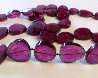 Rubellite Tourmaline Polished Slices-Graduated