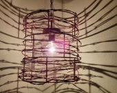 Custom hand made barbed wire lights