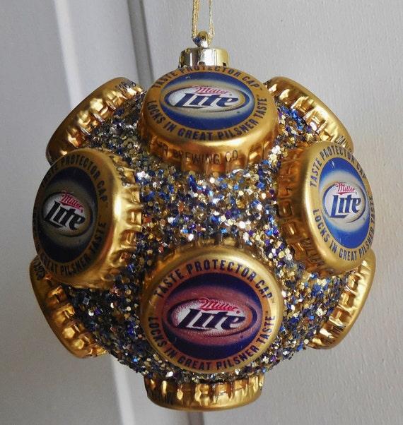 items similar to miller light beer bottle cap ornament on etsy