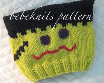 Bebeknits Little Frankie Baby Hat Knitting Pattern