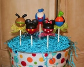Mom's Killer Cakes & Cookies  Art Mouse and Friends Silhouette Style Cake Pops