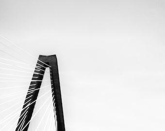 Charleston Photos - Ravenel Bridge - Charleston SC Photography -  B&W Fine Art Photography, South Carolina Photos, Charleston Art Prints