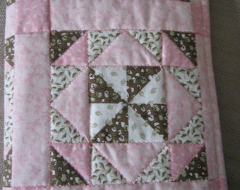 Nookcolor Nook Cover Pink And Brown Quilt with internal pocket
