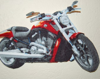 Motorcycle Iron on Applique