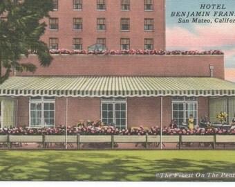 Hotel Benjamin Franklin San Mateo CA PC Uncirculated