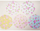 Floral Doily paper with polka dot / pack