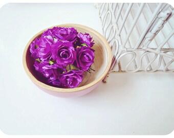 "Millinery Heartshape 1"" flowers Buds paper flower  / pack"