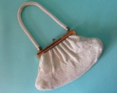 Vintage 1930s Whiting Davis Purse Enameled Mesh Handbag Bridal Fashions