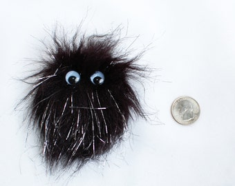 Sparkly Black Monster Fridge Magnet